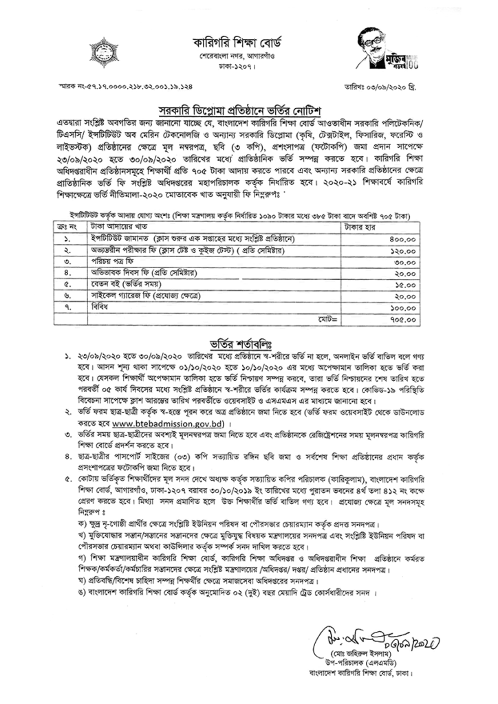 Polytechnic Admission Notice
